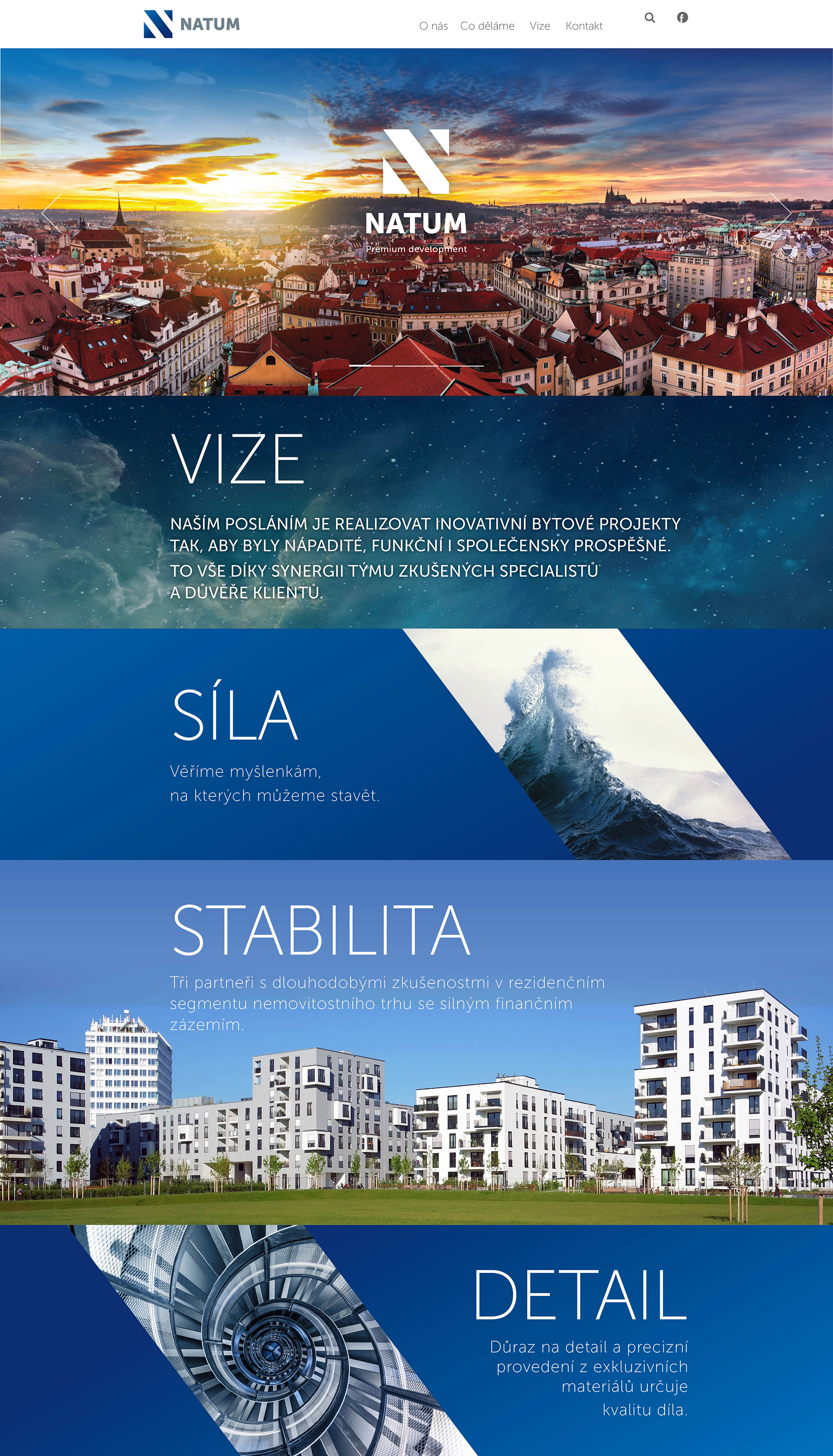 Webové stránky - Natum.cz | VV grafické studio