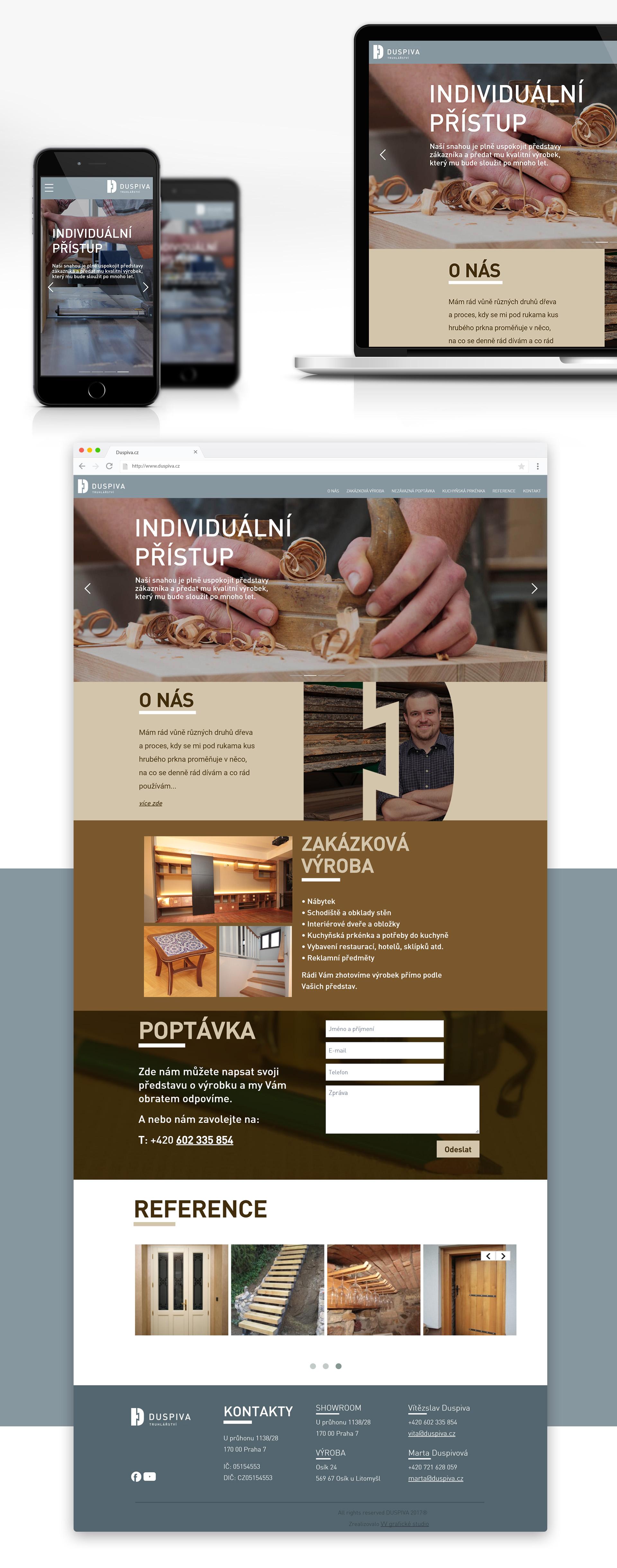 Realizace webových stránek - Duspiva.cz | VV grafické studio