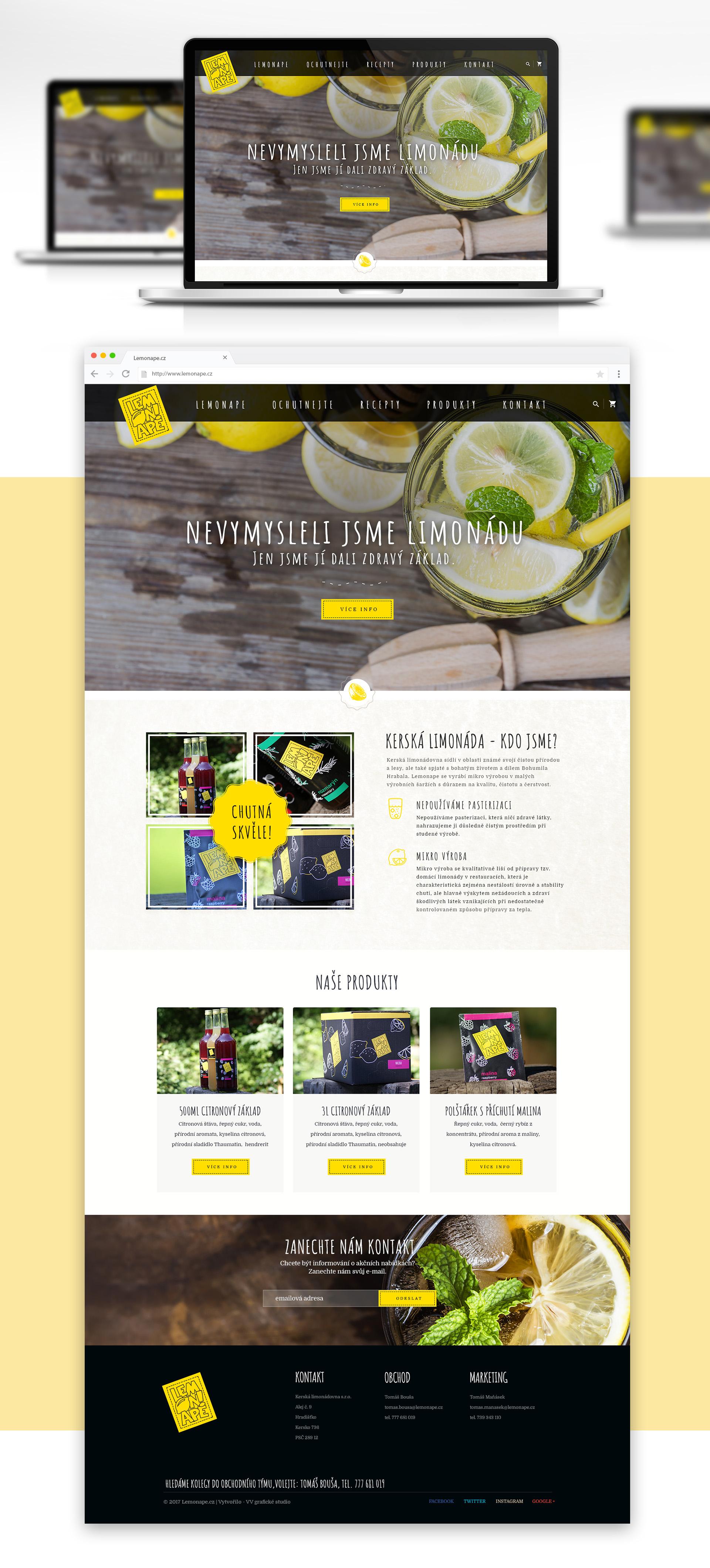 Modernizace e-shopu - Lemonape.cz | VV grafické studio