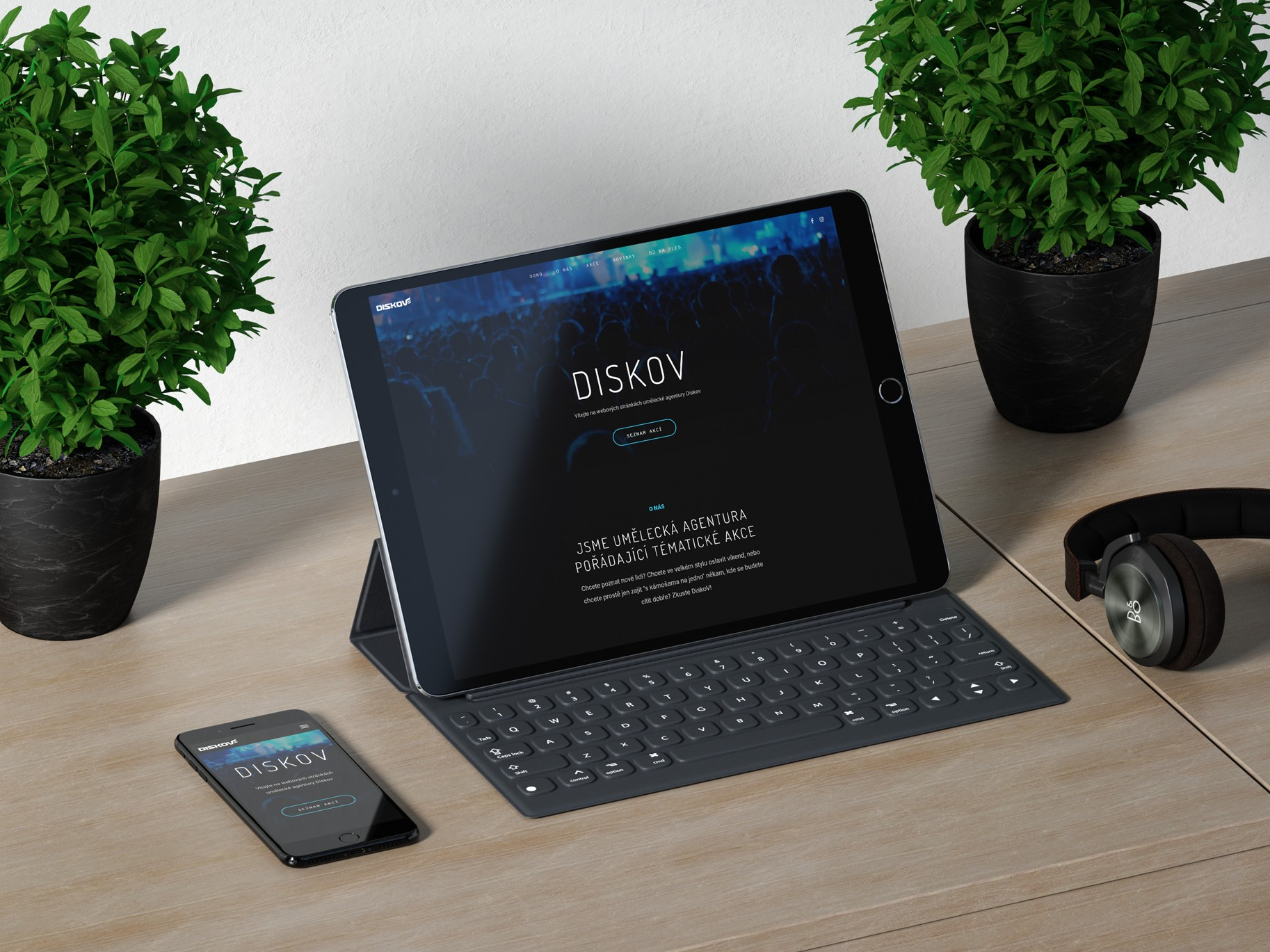 Redesign webových stránek - Diskov.cz | VV grafické studio / tablet