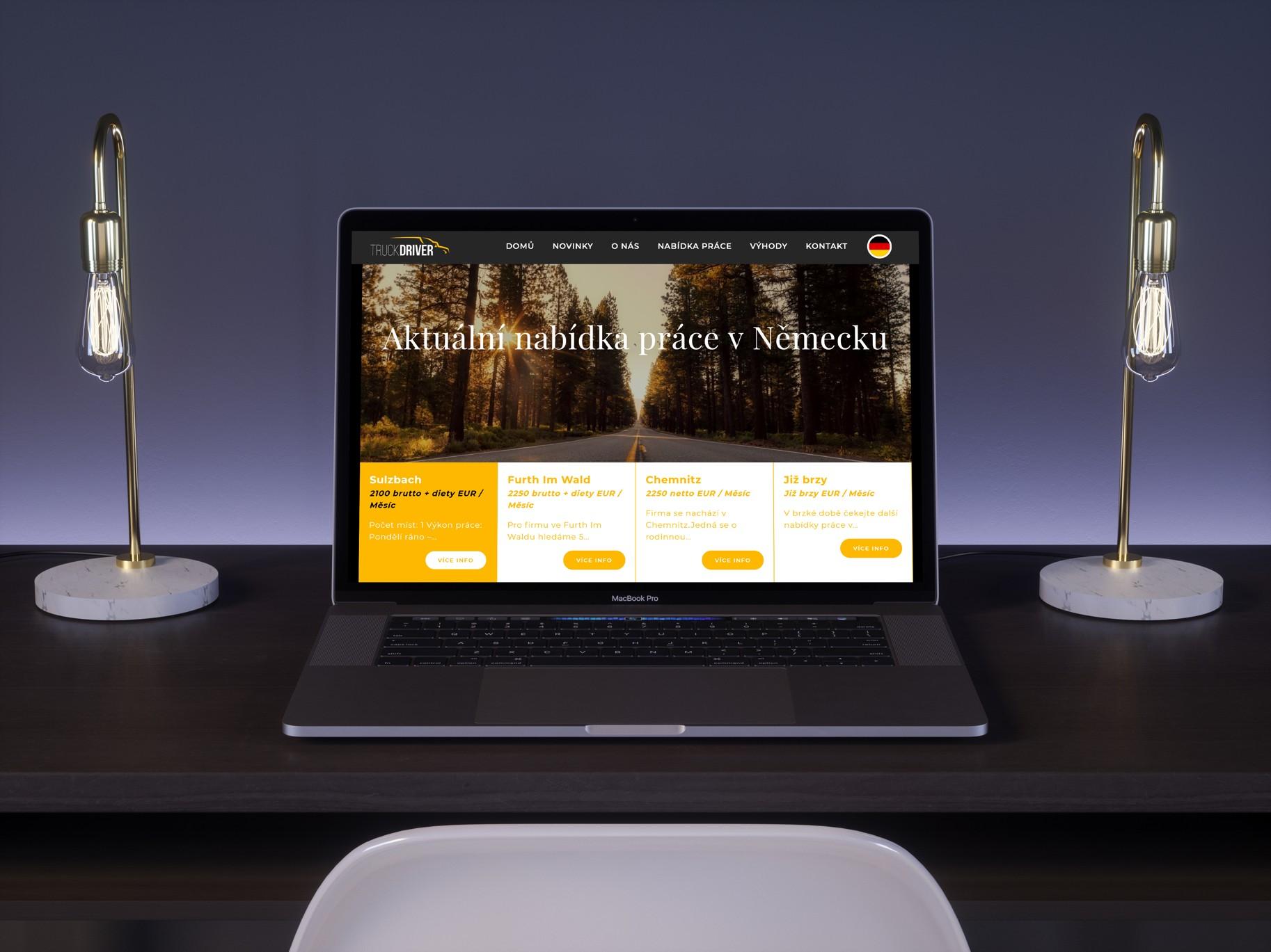 Redesign webových stránek - Truckdriver.cz