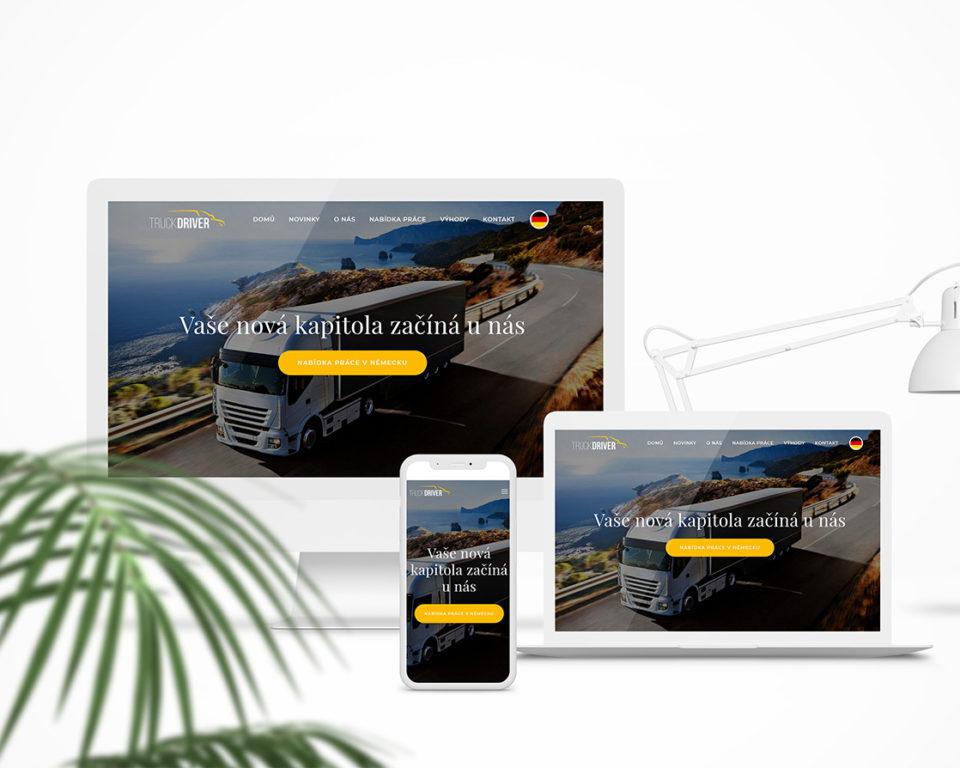 Redesign webových stránek – Truckdriver.cz